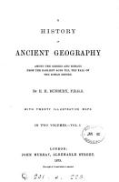 A history of ancient geography among the Greeks and Romans PDF