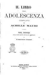 Il libro della adolescenza compilato da Achille Mauri