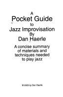 A Pocket Guide To Jazz Improvisation Book PDF