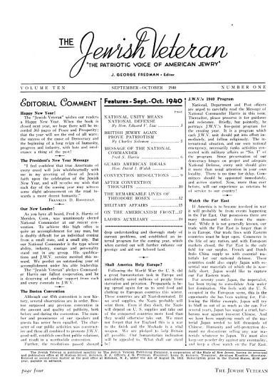 The Jewish Veteran PDF