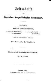 Zeitschrift der Deutschen Morgenländischen Gesellschaft: Bände 38-39