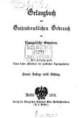 Gesangbuch zum gottesdienstlichen Gebrauch für evangelische Gemeinen