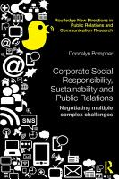Corporate Social Responsibility  Sustainability and Public Relations PDF