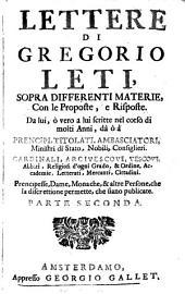 Lettere Di Gregorio Leti0: 2