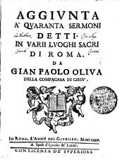 Aggivnta a' qvarana sermoni detti: in varii lvoghi sacri di Roma