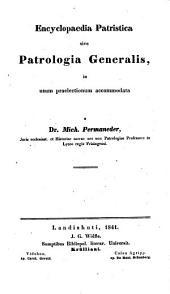 Bibliotheca patristica: Volume 1