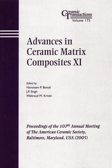 Advances in Ceramic Matrix Composites XI PDF