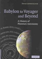 Babylon to Voyager and Beyond PDF