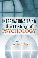 Internationalizing the History of Psychology PDF