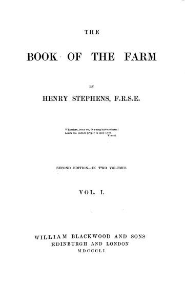 The Book of the Farm  2  Ed   illustrated   PDF