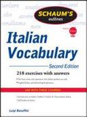 Schaum's Outline of Italian Vocabulary, Second Edition