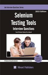 Selenium Testing Tools Interview Questions You'll Most Likely Be Asked