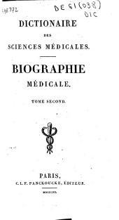 Dictionaire des sciences médicales: B -Tomo III: B-D