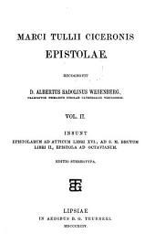 Marci Tullii Ciceronis Epistolae: Volume 2