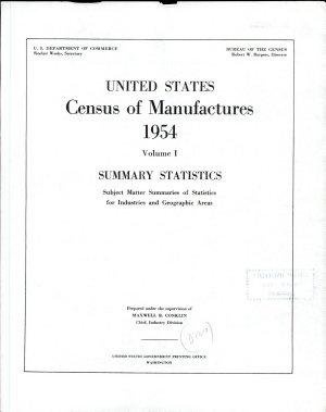 United States Census of Manufactures, 1954