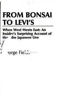 From bonsai to Levi s