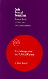 Risk Management and Political Culture