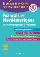 Fran  ais et Math  matiques   Les connaissances    ma  triser   CRPE 2020 2021 PDF