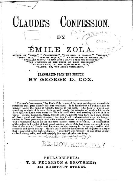 Download Claude s Confession Book