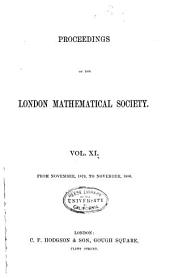 Proceedings of the London Mathematical Society: Volumes 11-13