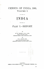 Census of India, 1901: India I. Report