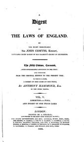 A Digest of the Laws of England: Volume 5