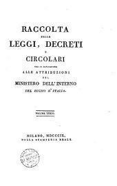 Raccolta delle leggi, decreti e circolari che si riferiscono alle attribuzioni del Ministero dell'Interno del Regno d'Italia. Volume primo [quinto]: Volume 1