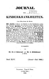 Journal für Kinderkrankheiten: Bände 46-47