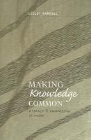 Making Knowledge Common PDF
