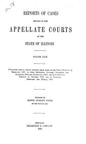 Reports of Cases Decided in the Appellate Courts of the State of Illinois: Volume 29