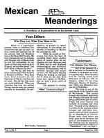 Mexican Meanderings PDF