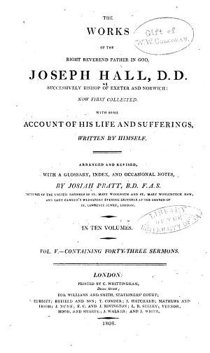The Works of Joseph Hall  Sermons