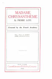 Madame Chrysanthème