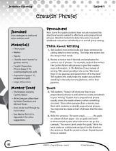 Writing Lesson Level 1--Prepositional Phrases