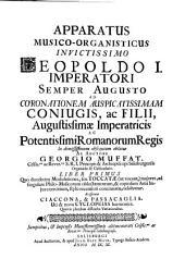 Apparatus musico-organisticus: Liber primus