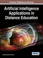 Artificial Intelligence Applications in Distance Education PDF