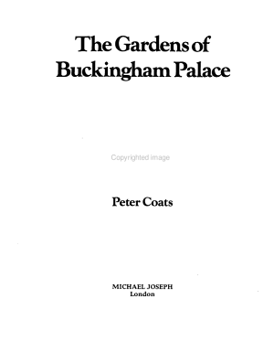 The Gardens of Buckingham Palace PDF