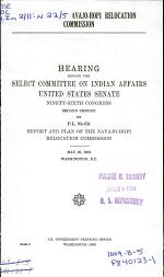 Report of the Navajo-Hopi Relocation Commission