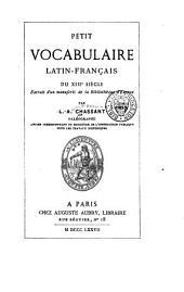 Petit vocabulaire latin-français du XIIIe siècle: extrait d'un manuscrit de la bibliothèque d'Évreux