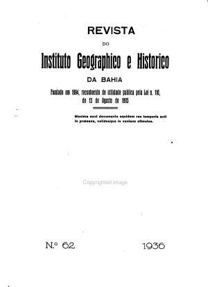 Revista do Instituto Geografico e Hist  rico da Bahia PDF