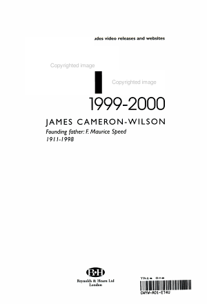 The Film Review  1999 2000 PDF