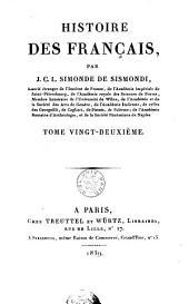 Histoire des Français: Volume22