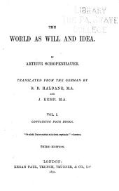 The World as Will and Idea: Volume 1