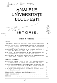 Analele Universit    ii Bucure  ti PDF
