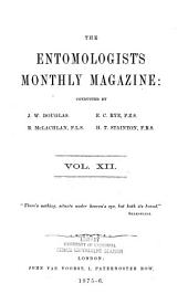 The Entomologist's Monthly Magazine: Volume 12