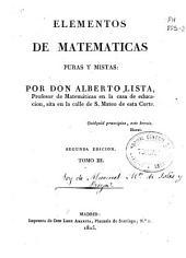 Elementos de matemáticas puras y mixtas: Volumen 3