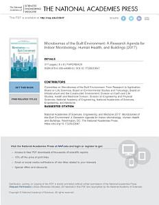 Microbiomes of the Built Environment PDF