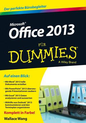 Office 2013 f  r Dummies PDF