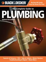 Black   Decker The Complete Guide to Plumbing  Updated 5th Edition PDF
