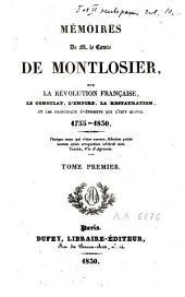 Memoires de M. le comte de Montlosier, sur la Révolution française, le Consulat, l'empire et la Restauration, 1755-1830
